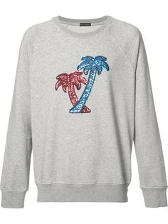sequin embroidered palm tree sweatshirt Marc Jacobs