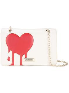 сумка на плечо с принтом сердца Love Moschino