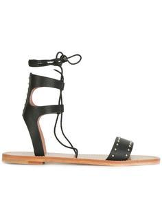 сандалии на шнуровке  Red Valentino