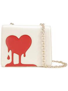 сумка через плечо с принтом сердца Love Moschino