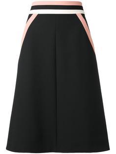 юбка с контрастными полосами Red Valentino