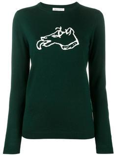 свитер с изображением собаки Bella Freud