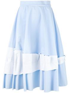 юбка с кружевной вставкой  Mm6 Maison Margiela