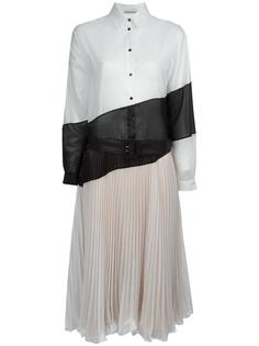 плиссированное платье-рубашка Marco De Vincenzo