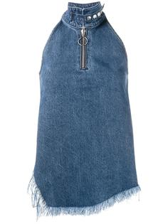 джинсовый топ асимметричного кроя  Marquesalmeida