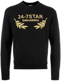 24-7STAR embroidered sweatshirt Dsquared2