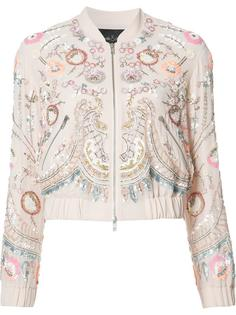 floral embellished bomber jacket Needle & Thread