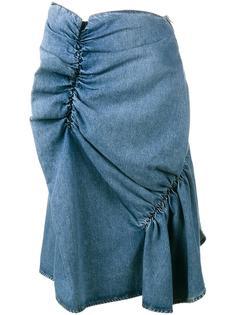 джинсовая юбка с оборками J.W.Anderson