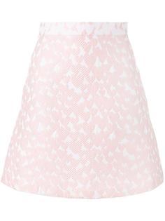 жаккардовая юбка мини House Of Holland