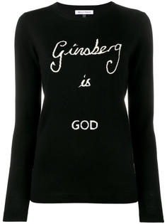 "свитер ""Ginsberg is God"" Bella Freud"