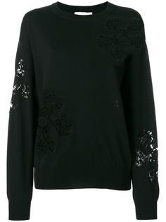 свитер с кружевными вставками Moschino