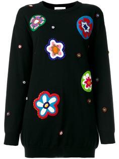 свитер с вышивкой Moschino