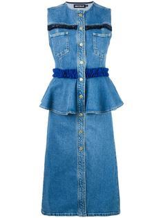 джинсовое платье с оборками  House Of Holland