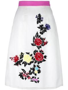 юбка с вышивкой роз  House Of Holland