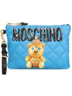 клатч с логотипом  Moschino
