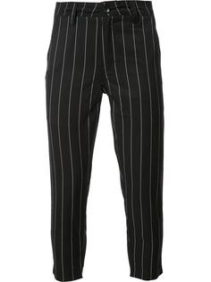 pinstripe cropped trousers  Publish