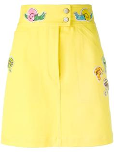 приталенная юбка с контрастными заплатками Olympia Le-Tan