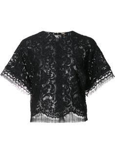 cropped lace T-shirt Adam Lippes