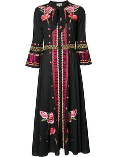 длинное платье с вышивкой Temperley London