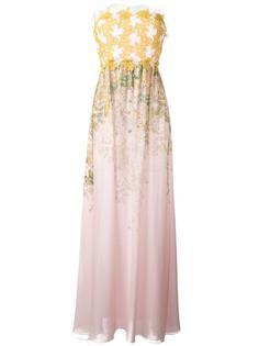 платье с цветочным узором без бретелек Giambattista Valli