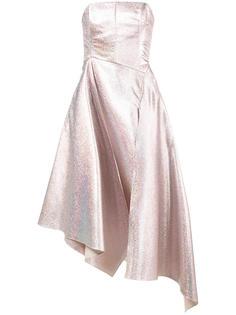 блестящее платье без бретелек Osman