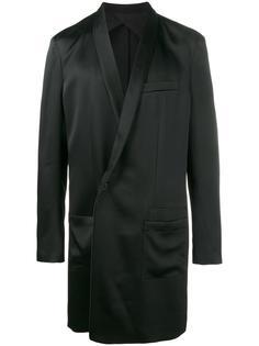 однобортное пальто свободного кроя  Haider Ackermann