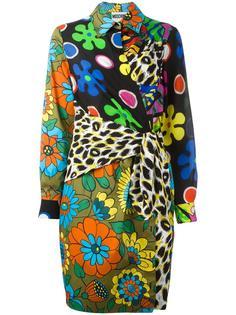 платье-рубашка с запахом Moschino