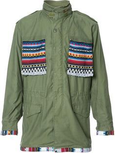 aztec details cargo jacket  Htc Hollywood Trading Company