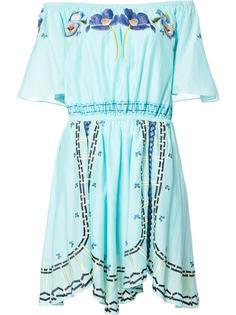 мини-платье с открытыми плечами Temperley London