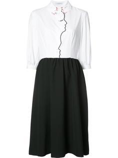 двухцветное платье Vivetta