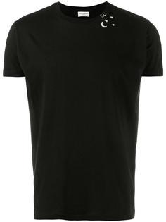 футболка с принтом звезд Saint Laurent