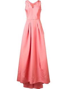 вечернее платье с V-образным вырезом Carolina Herrera