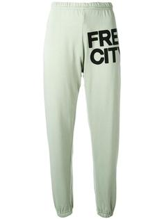 logo print track pants Freecity