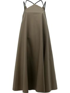 multiple straps flared dress Maison Rabih Kayrouz