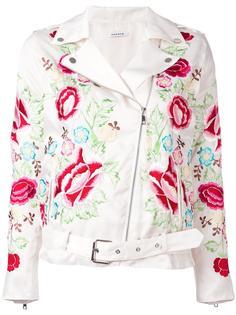 байкерская куртка с цветочной вышивкой P.A.R.O.S.H.