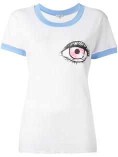 футболка с принтом глаза  Natasha Zinko