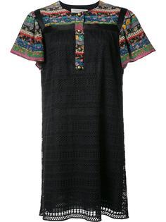 вязаное платье с разноцветными вставками Philosophy Di Lorenzo Serafini