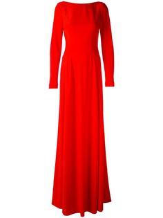 длинное платье с вырезом на спине  Antonio Berardi