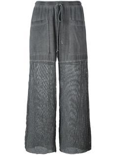 широкие брюки с сетчатыми панелями Lost & Found Rooms