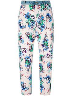 джинсы с цветочным принтом   MSGM