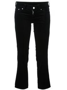 укороченные бархатные брюки Mm6 Maison Margiela
