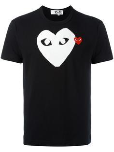 футболка с принтом логотипа Comme Des Garçons