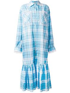 платье-рубашка в клетку  Natasha Zinko