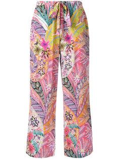 шелковые брюки с орнаментом Etro