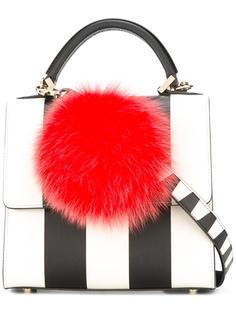полосатая сумка-тоут с помпоном Les Petits Joueurs