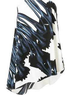 floral print strapless blouse Halston Heritage