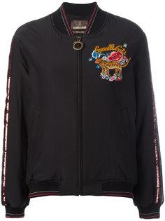 куртка бомбер с вышивкой Roberto Cavalli