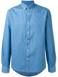 джинсовая рубашка на пуговицах Sunspel