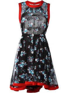 расклешенное платье с цветочным принтом Philosophy Di Lorenzo Serafini