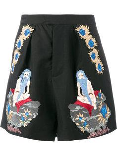 шорты с вышивкой Edward Crutchley